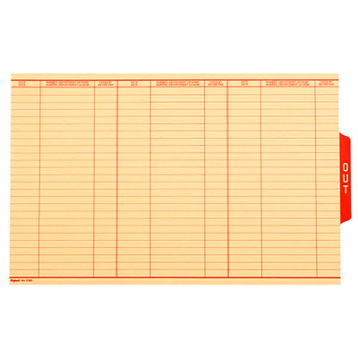 Pendaflex Bilingual Sign Out Guide PRINTED RED BOTH SIDES COLUMNS FOR DATE 10% PCW