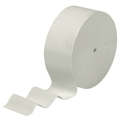 "Scott 2-Ply Coreless Jumbo Bathroom Tissue Rolls, White, 1,150', 12/CS BATH TISSUE ROLL 3-7/10""X1150' WHITE CASE OF 12 ROLLS"