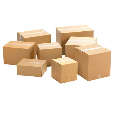"Crownhill Plain Brown Kraft 8""L x 6""W x 4""H Corrugated Shipping Boxes, 25-Pack 25 / BUNDLE"