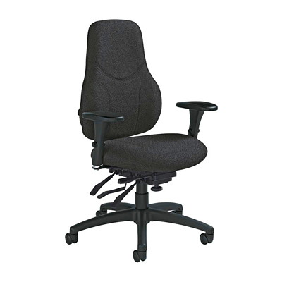 TRITEK HB MULTI-TILTER BLK GLOBAL- BLACK - SPRINKLE FABRI REGULAR SEAT