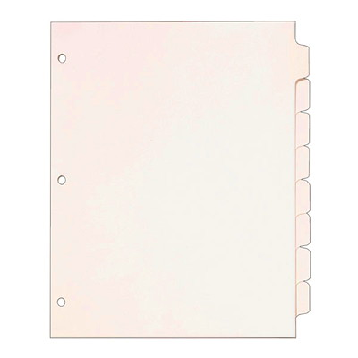 """Cardinal Write 'N Erase Letter-size (8 1/2"""" x 11"""") Tabbed Dividers 8 TAB  WHITE 8 1/2"""" X 11"""""""
