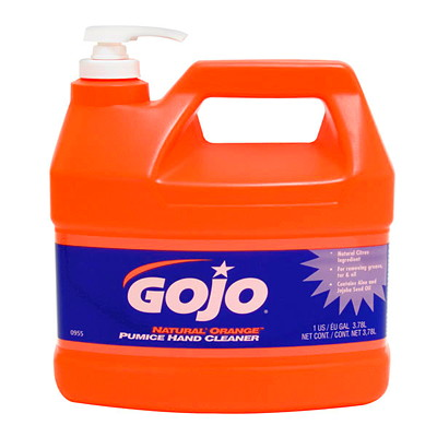 Gojo Natural Orange Pumice Hand Cleaner D CLEANER  1 GAL. W/PUMP DISPE NSER