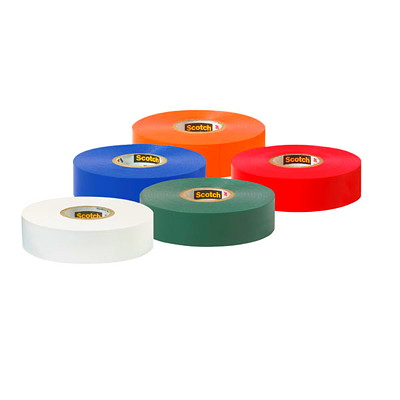 """Scotch #35 Vinyl Colour Coding Electric Tape, Assorted Colours, 7 mil, 1/2"""" x 20', 5/PK ASSORTED COLOURS BLUE GREEN RED YELLOW WHITE"""
