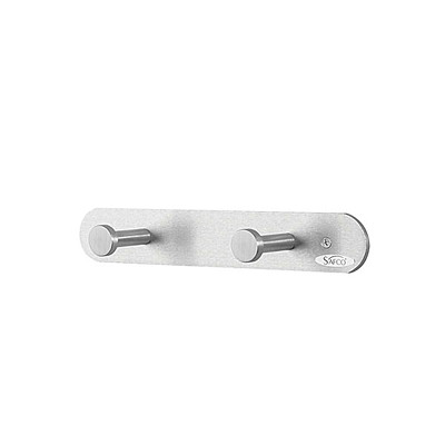 Safco Nail Head Wall Coat Hook, 2 Hooks, Silver ALUMINUM - SILVER FINISH