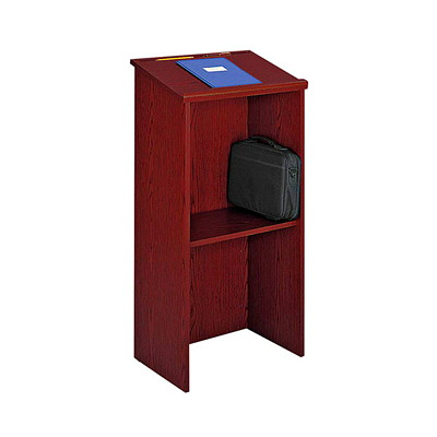Safco Stand-Up Lectern MAHOGANY FLOOR GLIDES INCLUDED