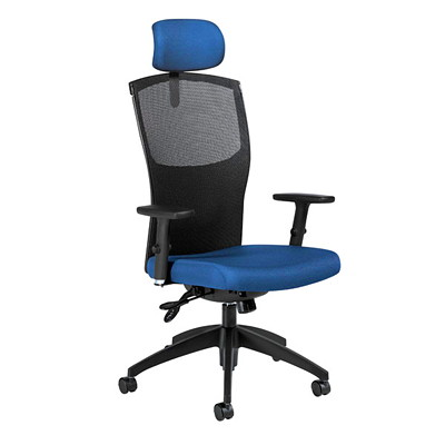Global Alero High-Back Multi-Tilter Chair With Headrest JENNY - JN-08 BLUE