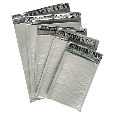 "Air Jacket Lightweight Plastic Bubble Mailers 10.5"" X 15.25"" 100/CASE"
