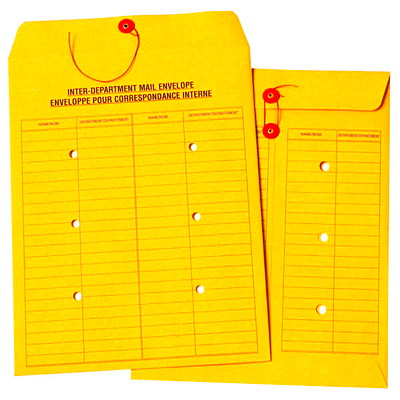 """Quality Park Inter-Department Kraft Double-Sided Mail Envelopes ENGLISH/FRENCH VERBIAGE 10 X 13""""; 32LB KRAFT"""