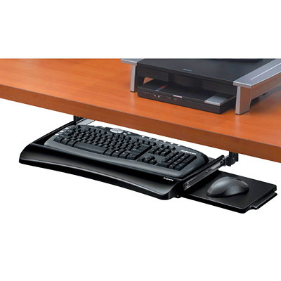 Fellowes Office Suites Keyboard Drawer AND RETRACTABLE MOUSE TRAY