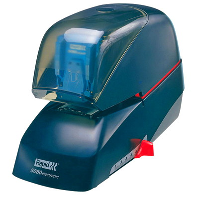 Rapid 5080e Heavy-Duty Electric Stapler 90 SHT CAP PROTECTIVE SHIELD W VISIBILITY 5000
