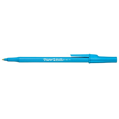 Paper Mate Ballpoint Stick Pens MED. PLASTIC BARREL  CAP & CLIP  CARBIDE BALL  DISPOSIBLE