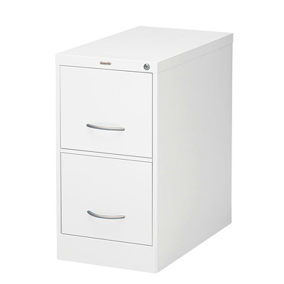 "Grand & Toy Vertical File, 2-Drawer, White, Letter-Size, 15"" x 26 9/16"" x 29"""