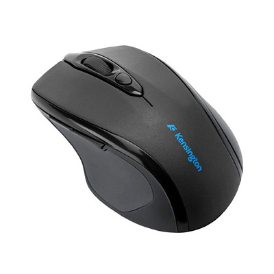 Kensington Pro Fit Wireless Mid-Size 2.4 GHz Right-Handed Mouse, Black (72354) WIRELESS MID-SIZED