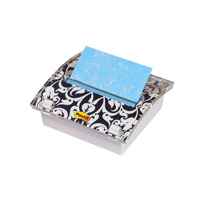 POST-IT POP-UP BROCADE DISPNSR INCL. 1 PACK OF BLUE 3X3 NOTES