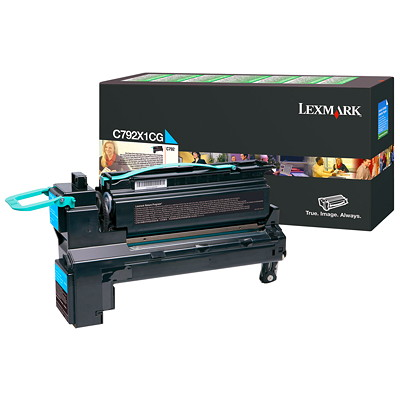 Lexmark C792 Toner Cartridge CYAN  RETURN PROGRAM EXTRA HIGH YIELD  20K