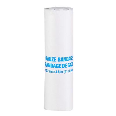 """Rouleau de bandage de gaze SAFECROSS 10.2CM X 4.6M(4"""" X 5YD)"""