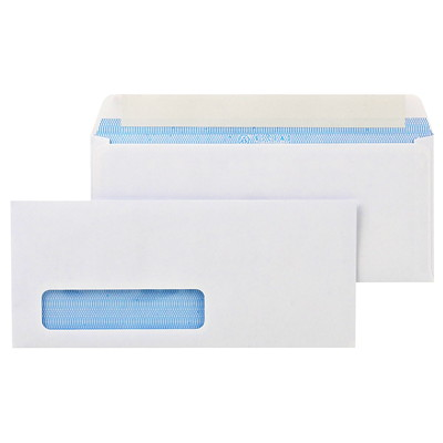 Ascend Peel-To-Seal #10 White Business Envelopes BLUE PARK TINT DESIGN PEEL-TO-SEAL