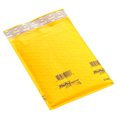 "Grand & Toy Bulk Self-Adhesive Bubble Mailers, Kraft, #000, 250/CT INSIDE 4""X6 ""  OUTSIDE 4""X8"" BUBBLE ENVELOPE"