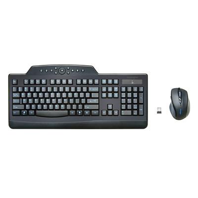 Kensington Pro Fit Wireless Media Desktop Set - keyboard and mouse set - English - black WIRELESS DESKTOP SET