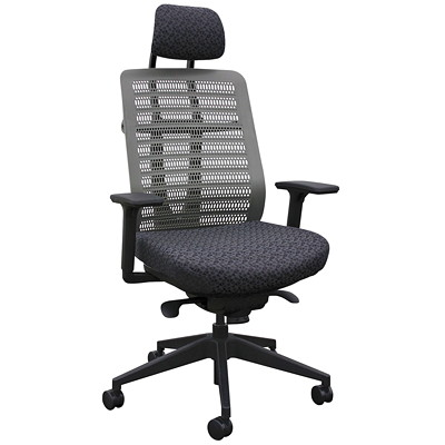 POLY BACK SYNCRO CHAIR MULTI ADJUSTABLE ARMS RECYCLED FABRIC