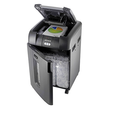 Swingline Stack and Shred Cross-Cut Shredder CROSS CUT 600 SHEETS 21GAL SHRED SIZE .25MM X 1.75MM