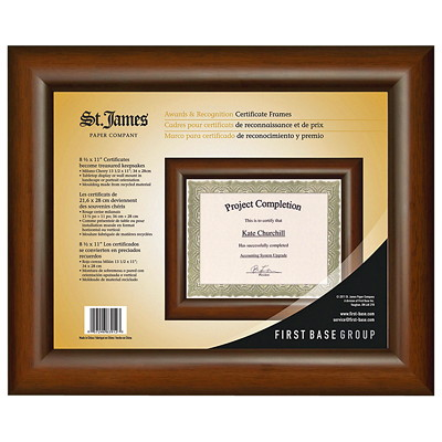 St. James Certificate Frame  13.5X11-HOLDS 8.5X11 DOCUMENTS