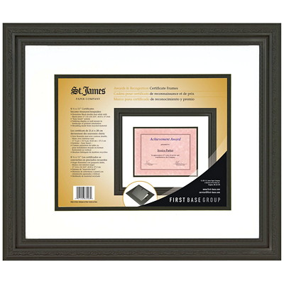 St. James Certificate Frame 17.25X14.75-DOUBLE MATTED HOLDS 8 1/2X11 DOCUMENTS