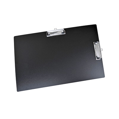 VLB StayClean Duraply Black Clipboard PVC FREE DBLE CLIP  STAY CLEAN