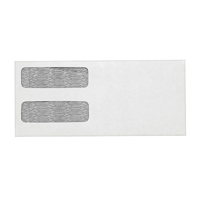 Quality Park Double-Window White Wove Invoice and Statement Envelopes FOR STATEMENTS & INVOICES 30% POST-CONSUMER CONTENT