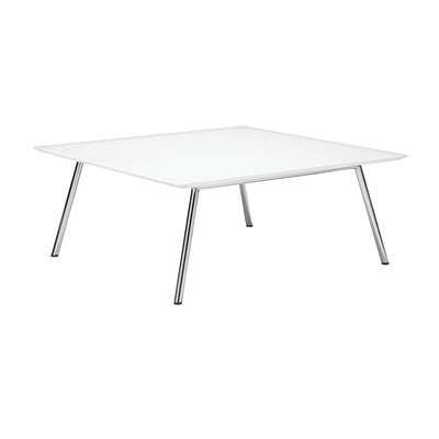 "Global Wind 36"" Square Coffee Table WHITE"