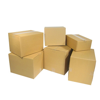 "Crownhill Plain Brown Kraft 8""L x 8""W x 8""H Corrugated Shipping Boxes, 25-Pack 8 X 8 X 8"""
