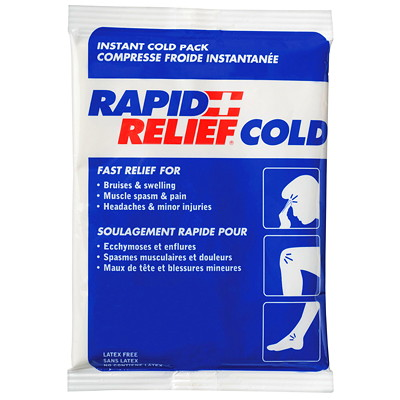 Rapid Relief Instant Cold Pack SMALL 10.2 X 15.2 CM