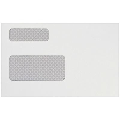 Enveloppes blanches pour feuillets d'impôts à teinte de sûreté avec fenêtre Quality Park 24LB VELIN BLANC 500/CT