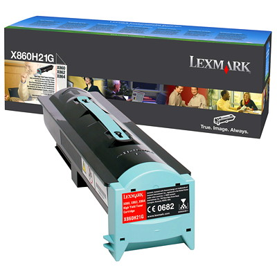 Lexmark X860e, X862e, X864e Black High Yield Original Toner Cartridge (X860H21G) CARTRIDGE  35K COST PER COPY