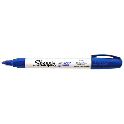 Sharpie Oil-Based Opaque Paint Marker, Blue, Medium Tip