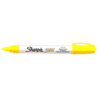 Sharpie Oil-Based Opaque Paint Marker, Yellow, Medium Tip