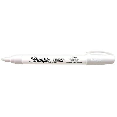Sharpie Oil-Based Opaque Paint Marker, White, Medium Tip