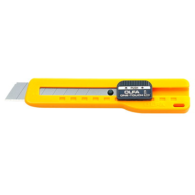 OLFA Heavy-Duty Slide Lock Utility Knife W/ONE-TOUCH BLADE SLIDE LOCK SNAP-OFF CUTTER BLADES-18MM