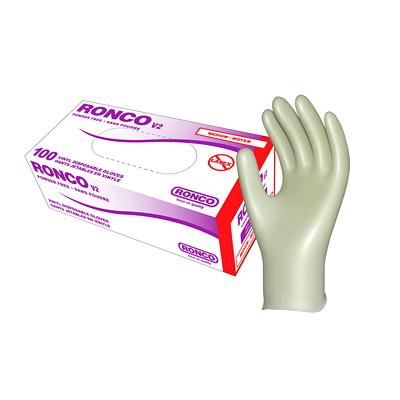Ronco V2 Vinyl Disposable Gloves, Medium, Clear, 100/BX MEDIUM  100/PK V2 VINYL CLEAR PF