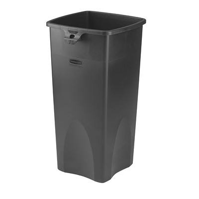 Rubbermaid Untouchable Container, Black, 23-Gallon Capacity BLACK
