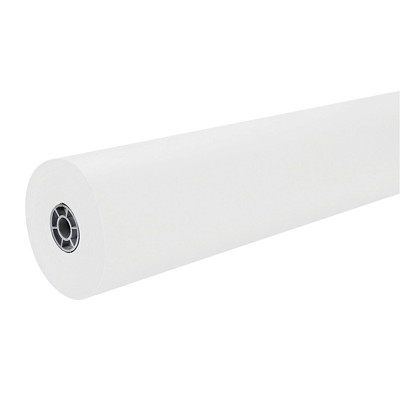 KRAFT ROLL 50# WHITE DUAL FINISH 36IN WIDEX1000FT LONG