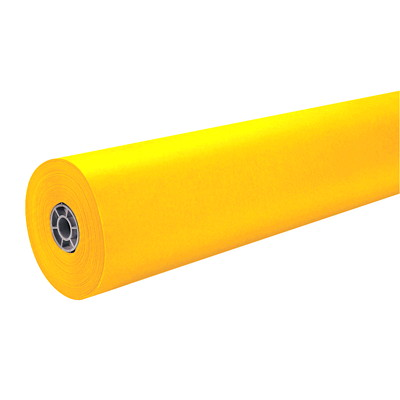 "MailPac Dual-Finish Heavyweight Kraft Wrap Roll, Yellow, 36"" x 1,000' FINISH 36IN WIDEX1000FT LONG"