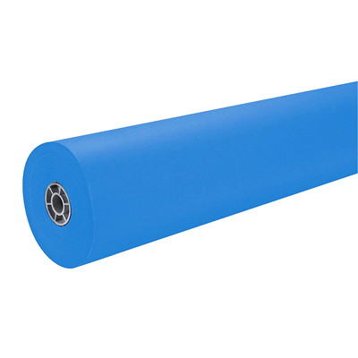 "MailPac Dual-Finish Heavyweight Kraft Wrap Roll, Brite Blue, 36"" x 1,000' DUAL FINISH 36IN WDX1000FT LNG"