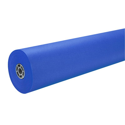 "MailPac Dual-Finish Heavyweight Kraft Wrap Roll, Dark Blue, 36"" x 1,000' FINISH 36IN WIDEX1000FT LONG"