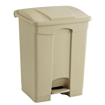 Safco Step-On Receptacle, Tan, 17-Gallon Capacity