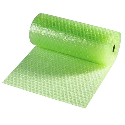 "CrownHill Environmental Sensible Bubble Wrap, Green, 12"" x 25' ROLL"