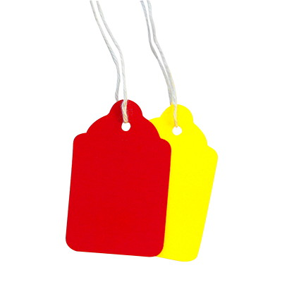 Coloured Merchandise Tags 10PT  1000/CS  W/STRING 1/8""