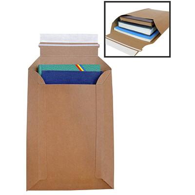 "Expanding Self-Adhesive Kraft Conformer Board Mailers 28PT VIRIGN KRAFT 4PKS/CASE MAX EXPANSION 2.125"" S/S"
