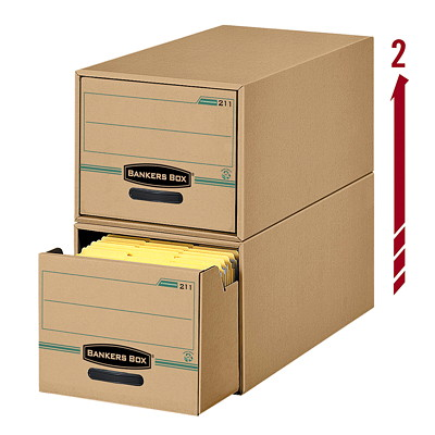 Bankers Box Enviro Stor/Drawer File 12-1/4WX10-1/2HX24D 100% RECYCLED INTERNAL LINER