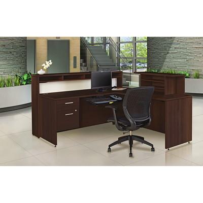 Offices To Go Ionic Reception Suite, Dark Espresso  DARK ESPRESSO